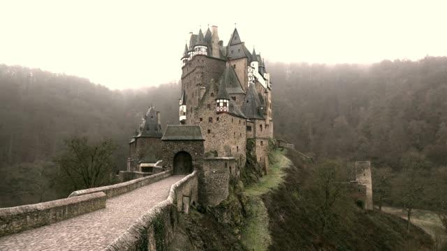 eltz castle, eifel, rhineland-palatinate, germany, europe - german culture stock videos & royalty-free footage