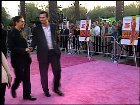 elvis costello at the 'austin powers' the spy who shagged me' premiere at universal amphitheatre in universal city, california on june 8, 1999. - universal city video stock e b–roll