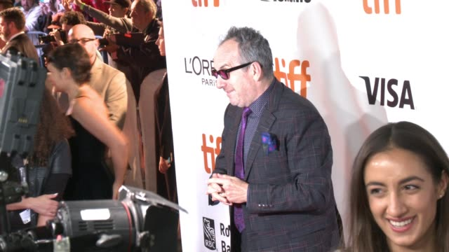 """elvis costello at the """"film stars don't die in liverpool"""" premiere - toronto international film festival 2017 at roy thomson hall on september 12,... - elvis costello stock-videos und b-roll-filmmaterial"""