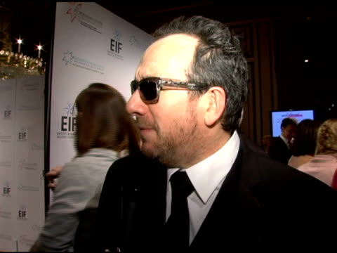 elvis costello on being invited by katie couric to support the event and his contribution to the night's festivities at the 'hollywood meets motown'... - elvis costello stock-videos und b-roll-filmmaterial