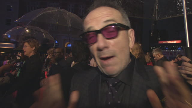 elvis costello on liverpool, how he got involved with the project and writing a song for the film at 'film stars don't die in liverpool' european... - elvis costello stock-videos und b-roll-filmmaterial