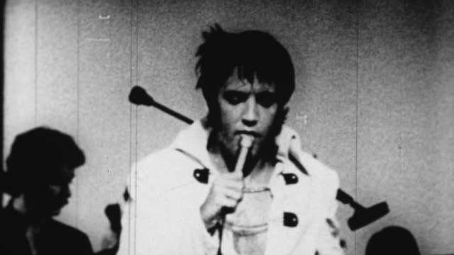 elvis presley sings before a live audience in las vegas - las vegas stock videos & royalty-free footage