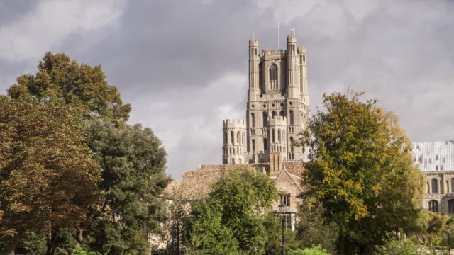 ely cathedral in cambridgeshire, england, uk. - gothic style stock videos & royalty-free footage