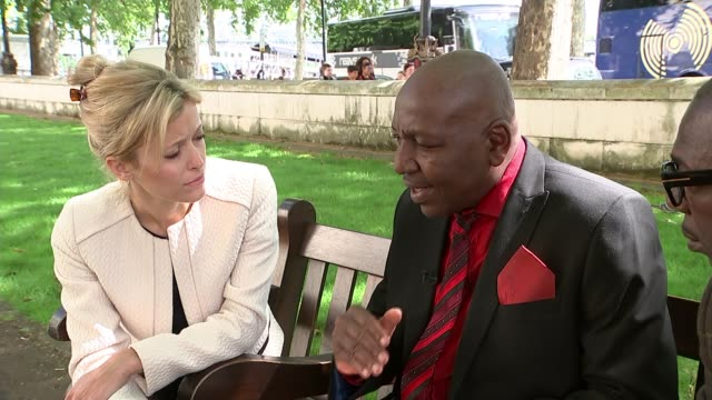 Family speak of anger at lack of witnesses coming forward ENGLAND London EXT Tony Poku interview with reporter SOT