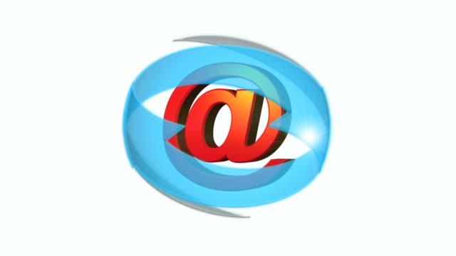 vídeos y material grabado en eventos de stock de flechas de dirección de correo electrónico - símbolo de arroba