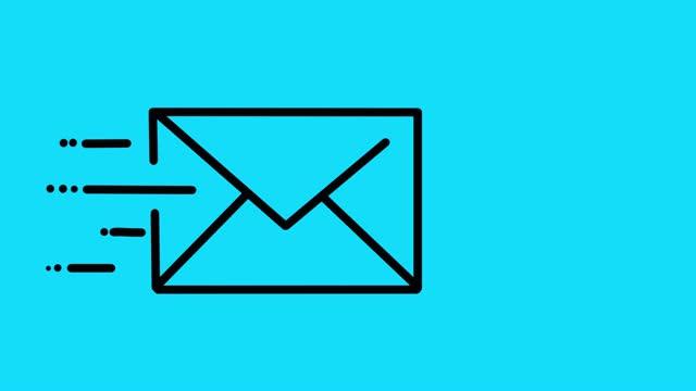 stockvideo's en b-roll-footage met e-mail animatie blauw - e mail