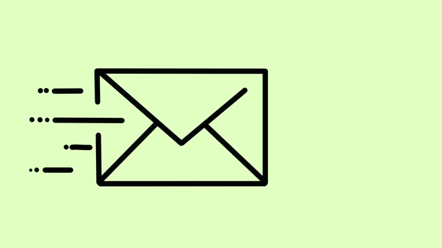 e-mail animation green - sending stock videos & royalty-free footage