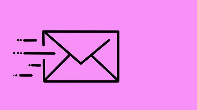 stockvideo's en b-roll-footage met e-mail animatie roze - e mail