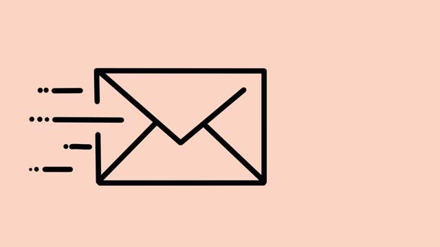 stockvideo's en b-roll-footage met e-mailanimatie - e mail