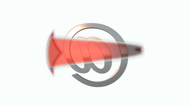 vídeos y material grabado en eventos de stock de flecha de correo electrónico - símbolo de arroba