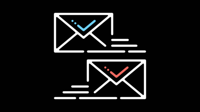 email certificate line icon animation with alpha - e mail stock videos & royalty-free footage