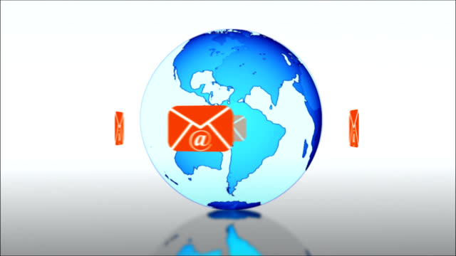 E-mail concept around the world
