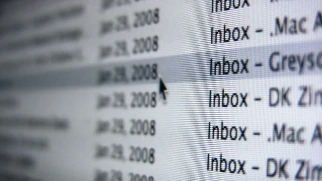 posta in arrivo - e mail video stock e b–roll