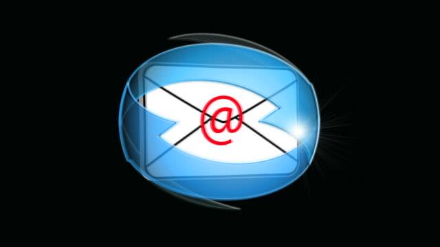 vídeos y material grabado en eventos de stock de bucle de correo electrónico - símbolo de arroba