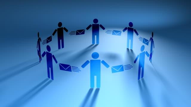 e メールの人々ブルー(hd loop - 羊飼いの棒点の映像素材/bロール