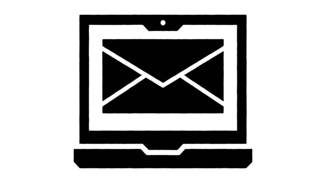 email services line drawing & ink splatter reveal animation with alpha - referendum stock videos & royalty-free footage