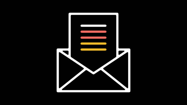 email sign up line icon animation with alpha - receiving stock videos & royalty-free footage