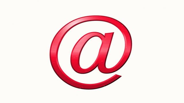vídeos y material grabado en eventos de stock de desplegar símbolo de correo electrónico - símbolo de arroba