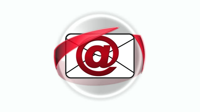 vídeos y material grabado en eventos de stock de símbolo de correo electrónico de bucle - símbolo de arroba