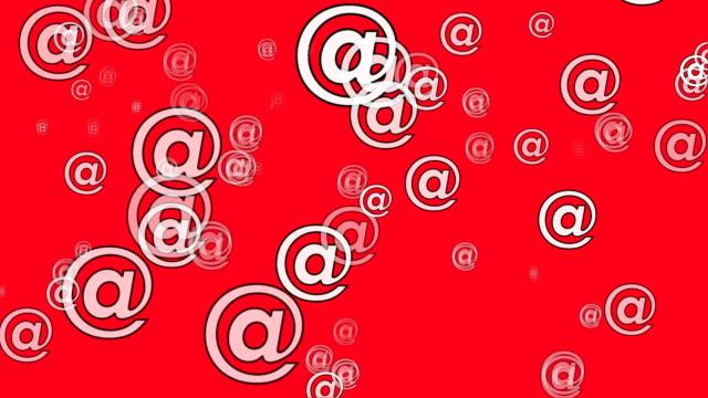 vídeos y material grabado en eventos de stock de símbolo de correo electrónico a - símbolo de arroba