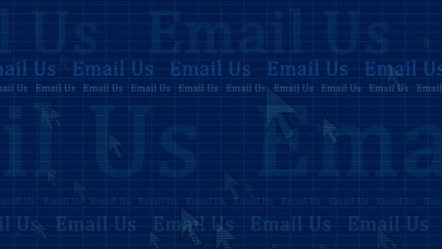 email us - dark blue motion background - cursor stock videos & royalty-free footage