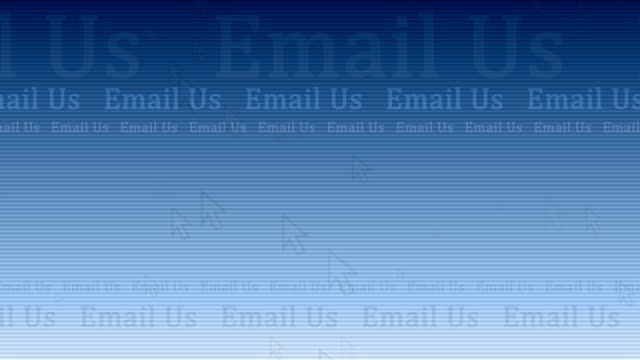 email us - light blue motion background with cursors - cursor stock videos & royalty-free footage