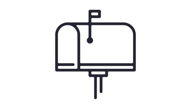 Email/News Client Line Icon Animation with Alpha
