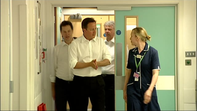 emails show government discussed using foreign firms to manage nhs hospitals lib guy's hospital int david cameron mp nick clegg mp and andrew lansley... - david cameron politician stock videos & royalty-free footage