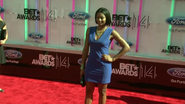 emayatzy corinealdi at the 2014 bet awards on june 29 2014 in los angeles california - bet awards stock videos and b-roll footage