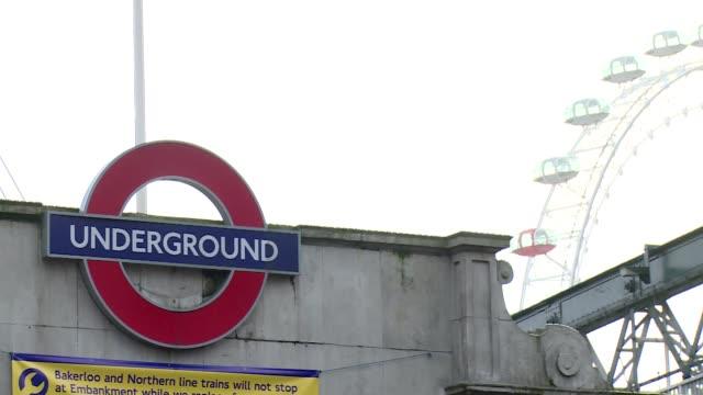 embankment subway station in london - logo stock videos & royalty-free footage