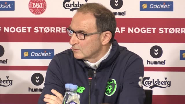 embargoed until 0600 11/11/17 press conference with republic of ireland manager martin o'neill and midfielder robbie brady mo on how his team have... - oresund region stock videos & royalty-free footage