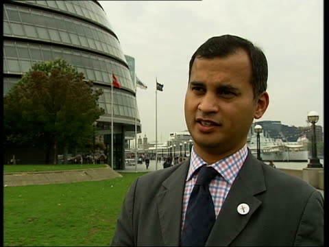 US Embassy in London refuse to pay congestion charge Outside GLA building Murad Qureshi interview SOT It's surprising to see our diplomats in the...