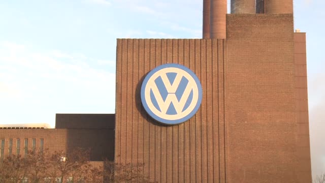 embattled german auto giant volkswagen says that both sales and profits fell in the first three months of the year but it is sticking to its full... - wolfsburg lower saxony stock videos and b-roll footage