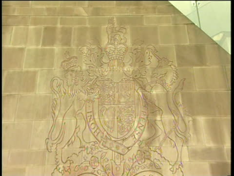 emblem and sign on modern building of high court of justice nottingham - sentencing stock videos & royalty-free footage