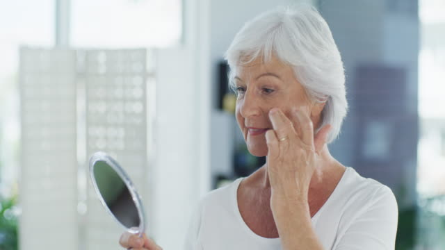 embrace your wrinkles, they're beautiful - mirror stock videos & royalty-free footage