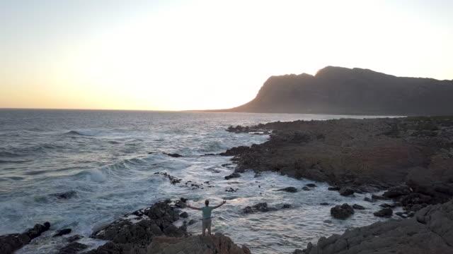 自然を受け入れる - ケープ半島点の映像素材/bロール