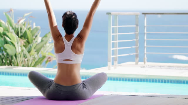 embracing the morning through yoga - yoga stock videos & royalty-free footage