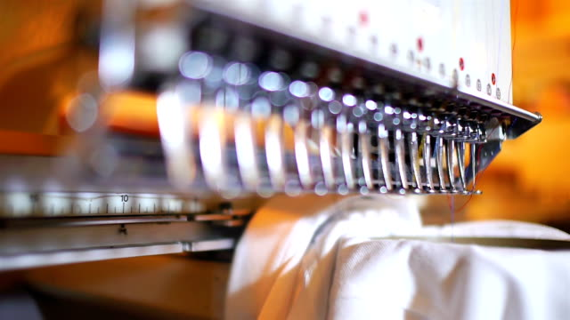 embroidery machine - t shirt stock videos & royalty-free footage