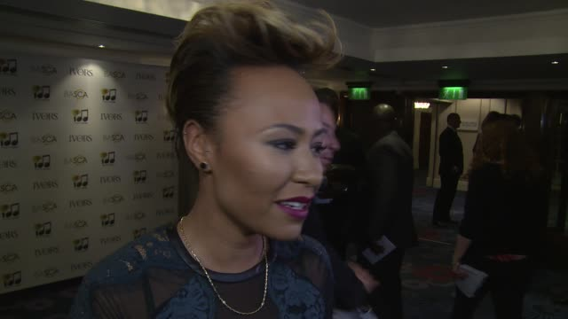 vídeos y material grabado en eventos de stock de interview emeli sande on the awards songwriting and collaborations at the ivor novello awards 2014 at the grosvenor house hotel on may 22 2014 in... - hotel grosvenor house londres