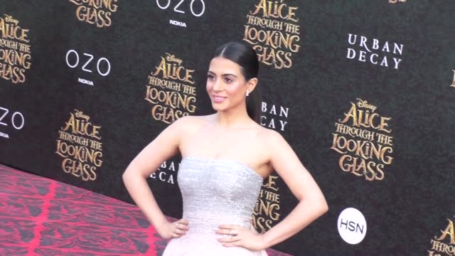 emeraude toubia at the premiere of disney's alice through the looking glass at el capitan theatre in hollywood in celebrity sightings in los angeles, - el capitan theatre stock videos & royalty-free footage