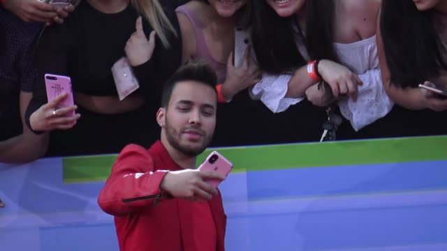 emeraude toubia & prince royce attend the 2018 latin american music awards at dolby theatre in hollywood in celebrity sightings in los angeles, - the dolby theatre stock videos & royalty-free footage