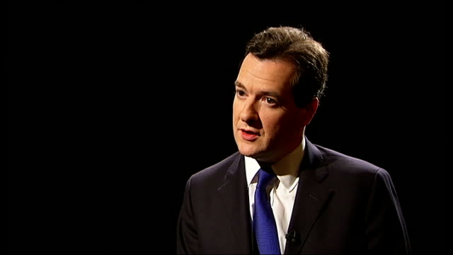 George Osborne interview ENGLAND London INT George Osborne interview SOT I made that clear I did say I was going to align the tapers and the...