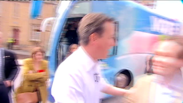 preview; r20041012 staffordshire: tamworth: ext david cameron mp during election campaign tx 5.4.2010 london: int david cameron mp interview sot - no... - vat stock videos & royalty-free footage