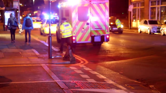 hd: emergency call in london - police force stock videos and b-roll footage
