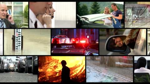 stockvideo's en b-roll-footage met hd montage: emergency call - reddingswerker