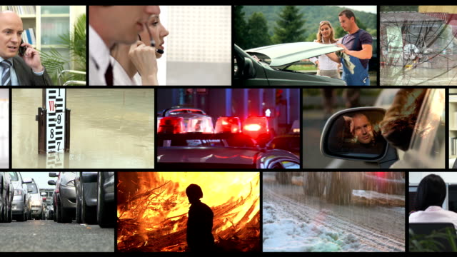 hd montage: emergency call - accidents and disasters stock videos and b-roll footage