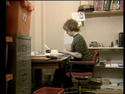 Emergency powers New Statesman Duncan Campbell typing at desk CMS SIDE Campbell