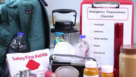 emergency preparedness natural disaster supplies. - emergency planning stock videos & royalty-free footage