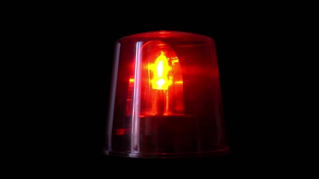 emergency rotating mirror beacon lamp 4k loop - railway signal stock videos & royalty-free footage