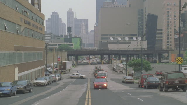 ms, pan, emergency services arriving on car crash site, chicago, illinois, usa  - tow truck stock videos and b-roll footage
